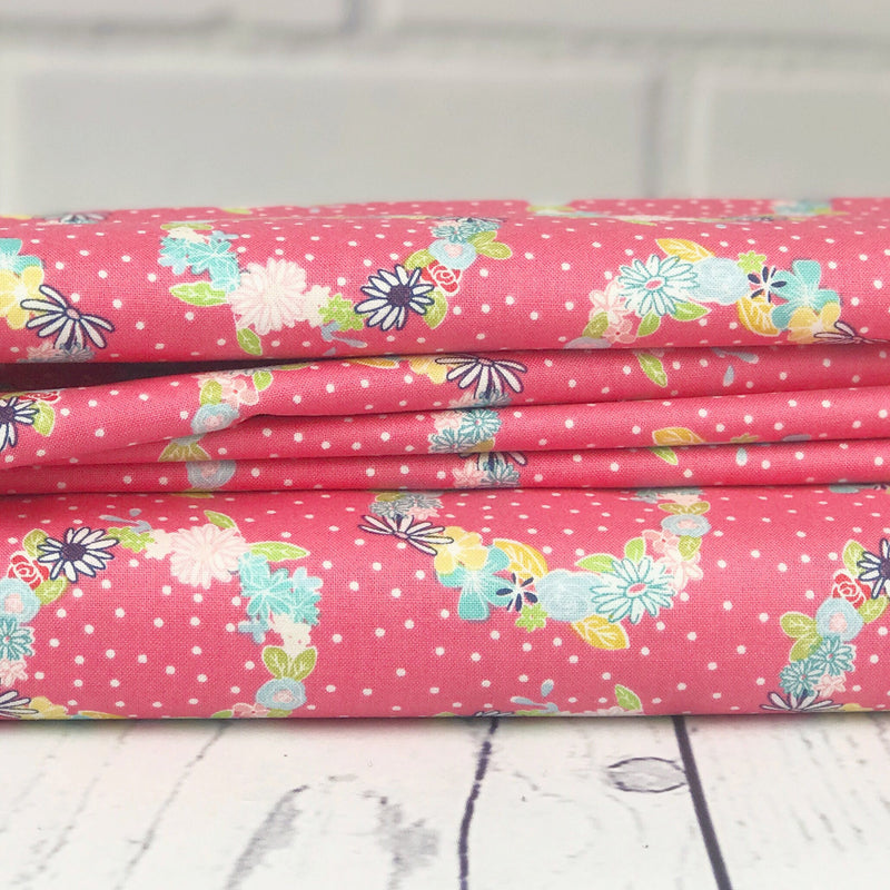 Daisy Days by Keera Job | Pink Flower Fabric