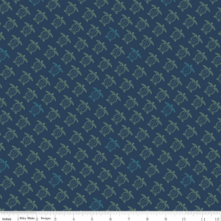 Navy Turtle Fabric