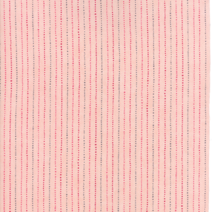 Pink Dot Stripes Fabric from Freya & Friends Collection at Cherry Creek Fabric