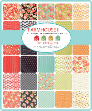 Red Blooms Fabric