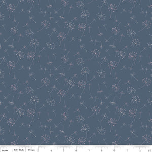Navy Dandelions Fabric from Serendipity Collection at Cherry Creek Fabric