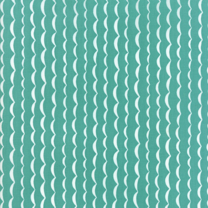 Turquoise Wave Fabric