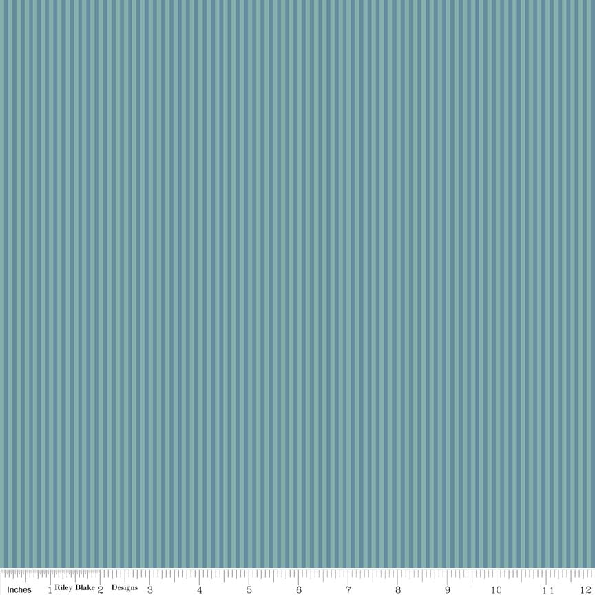 Teal Stripe Fabric from Lancelot Collection at Cherry Creek Fabric