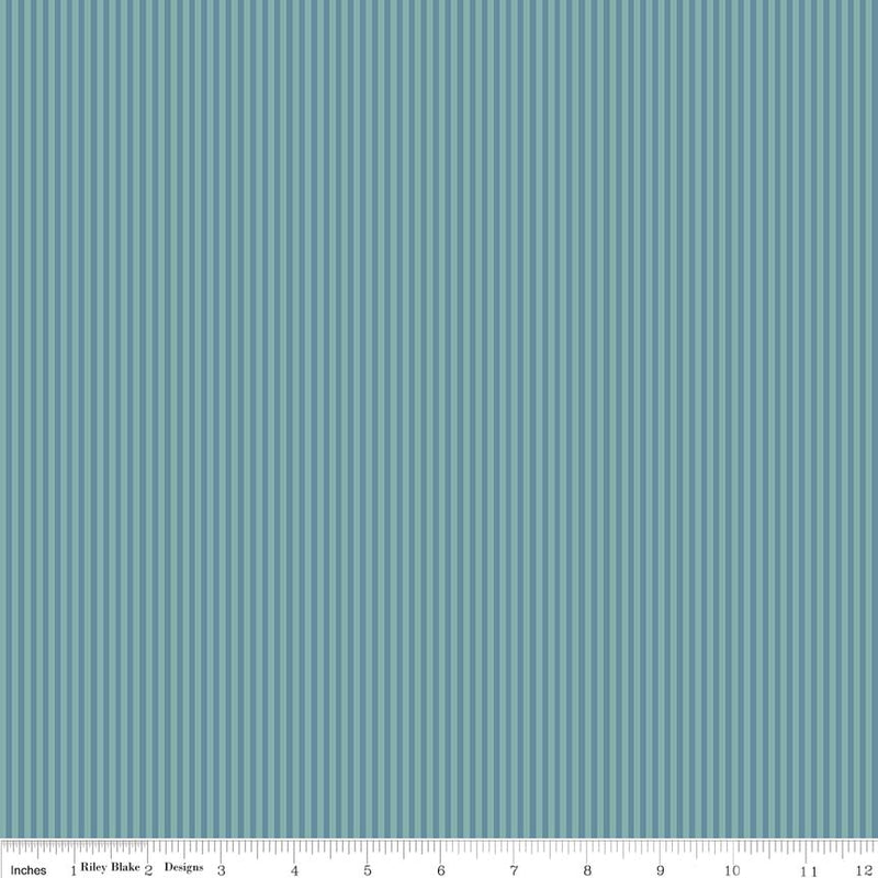 Teal Stripe Fabric