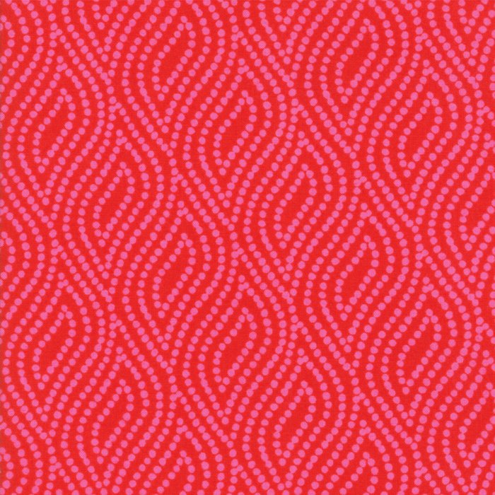 Red Dotted Floral Fabric