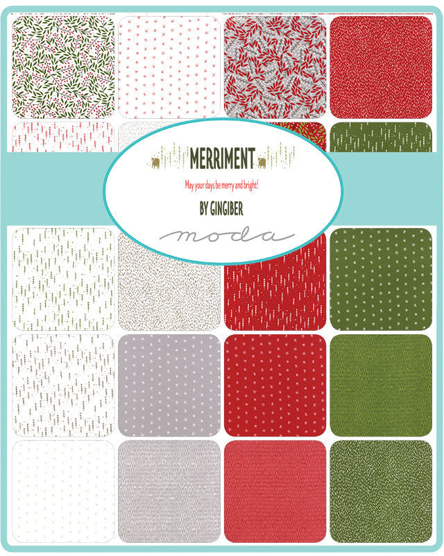 Merriment Jelly Roll - Gingiber Designs - Moda Fabric - Fabric Bundle - Moda Jelly Roll - 42 pieces from Cherry Creek Fabric & Crafts Collection at Cherry Creek Fabric