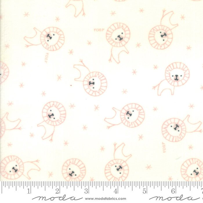 Pink Roar Lion Flannel Fabric from Soft & Sweet Flannel Collection at Cherry Creek Fabric