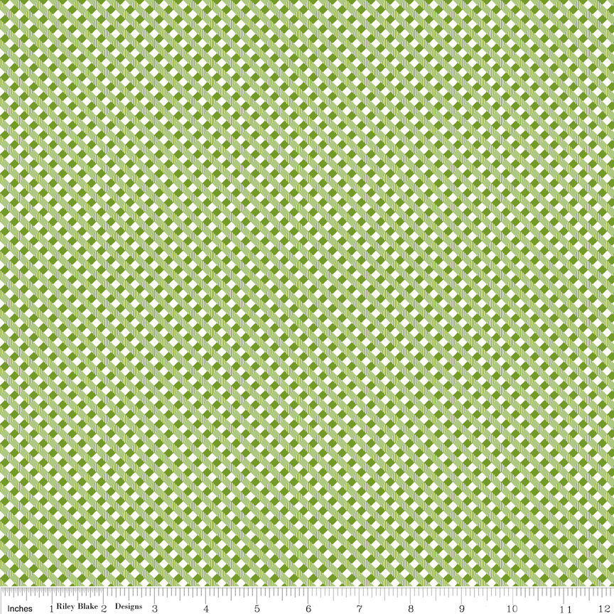 Green Gingham Fabric from Autumn Love Collection at Cherry Creek Fabric