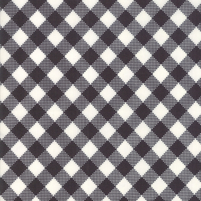 Merry Starts Here by Sweetwater | Black & Cream Check Fabric