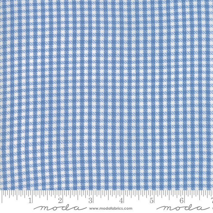 Chambray Twill Check Woven Fabric