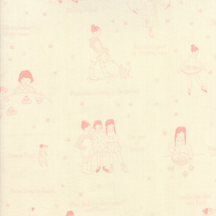 Pink Playtime Fabric from Freya & Friends Collection at Cherry Creek Fabric