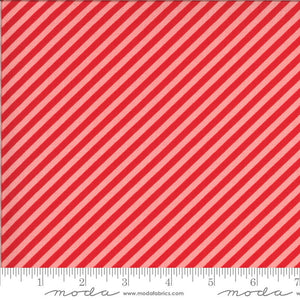 Red & Pink Stripe Fabric | Shine On