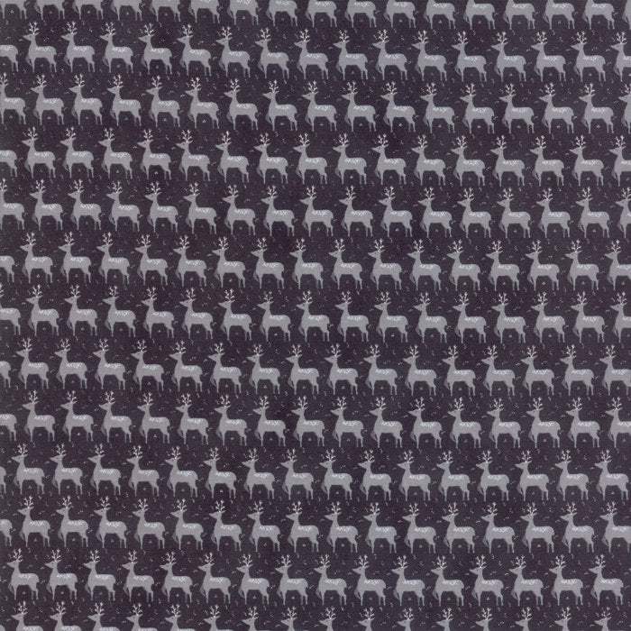 Black Small Deer Fabric from Sno Collection at Cherry Creek Fabric