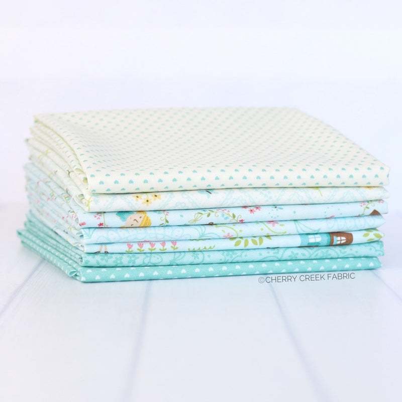 Home Sweet Home Blue Fat Quarter Bundle from Home Sweet Home Collection at Cherry Creek Fabric
