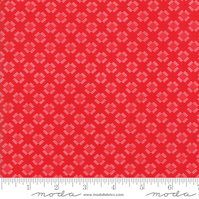 Red on Red Gingham Kisses Fabric from REDiculously Red Collection at Cherry Creek Fabric