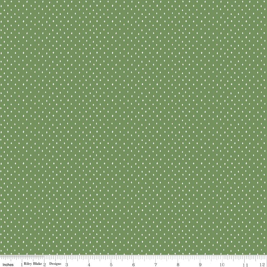 Green Diamonds Fabric