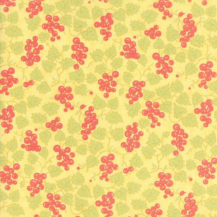Yellow Berries Fabric</br>END OF BOLT</br> 1 yd + 14""