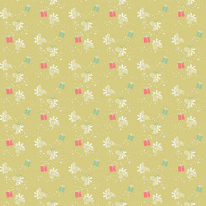 Green Winter Gift Fabric from Winter Tales Collection at Cherry Creek Fabric