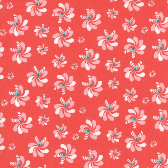 Coral Native Seeds Fabric