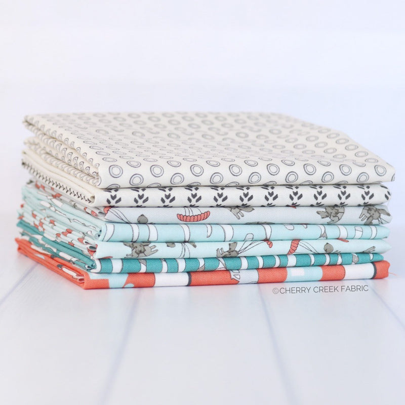 Mighty Machines Mini Fat Quarter Bundle from Mighty Machines Collection at Cherry Creek Fabric