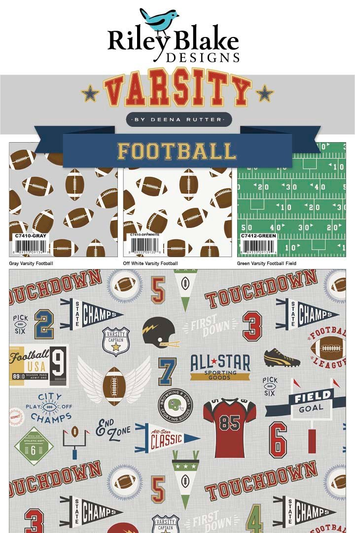 Varsity Football Fat Quarter Bundle