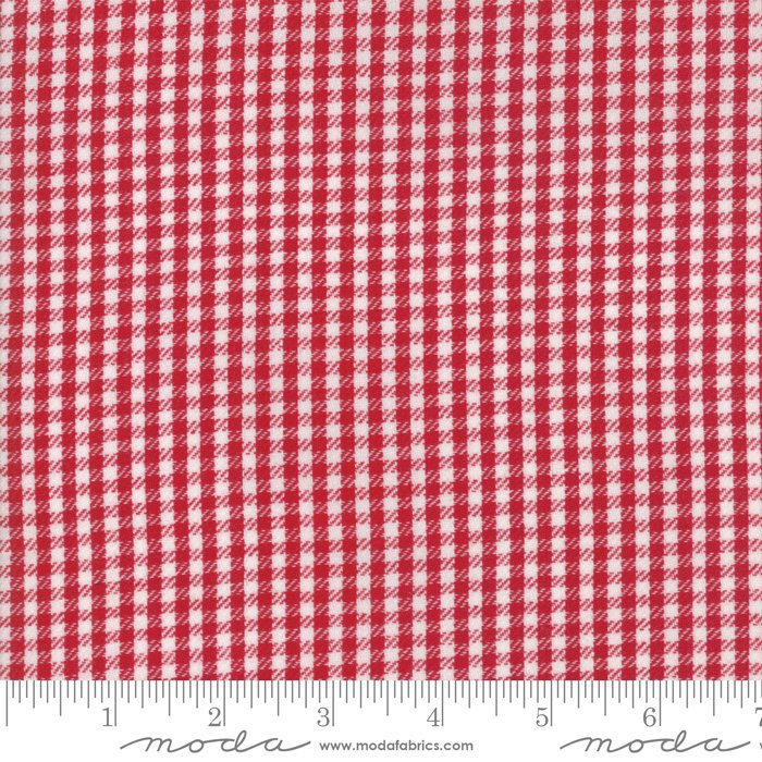 Red Twill Check Woven Fabric from Oxford Collection at Cherry Creek Fabric