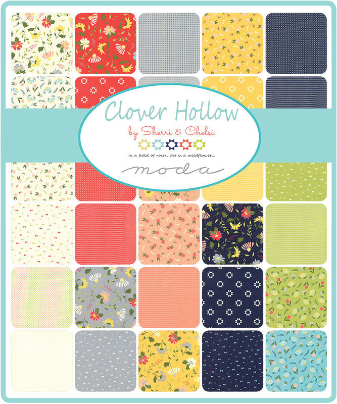 Ivory Fancy Bow Fabric from Clover Hollow Collection at Cherry Creek Fabric