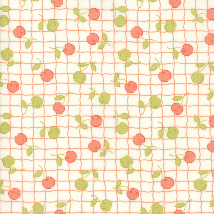 Cream Apple Picnic Fabric from Farmhouse II Collection at Cherry Creek Fabric