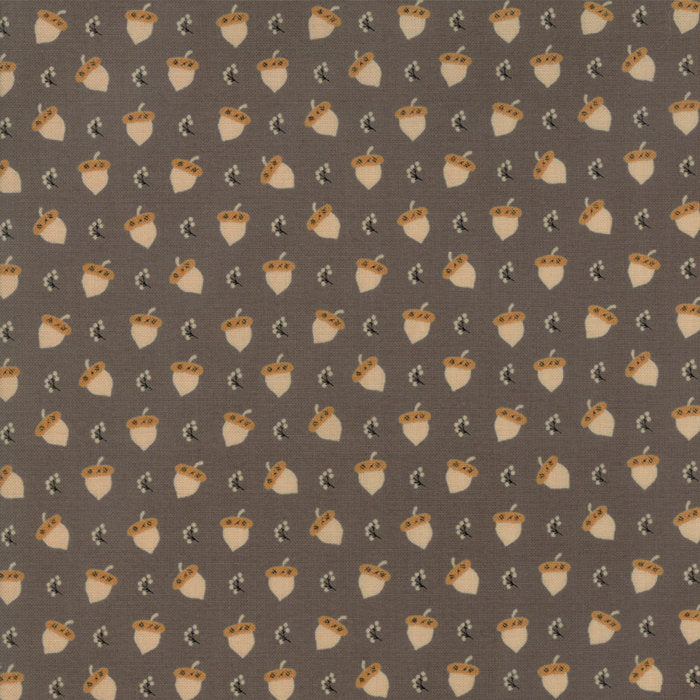 Brown Acorn Berries Fabric