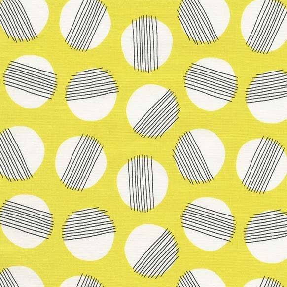 Yellow Hazy Moon Fabric