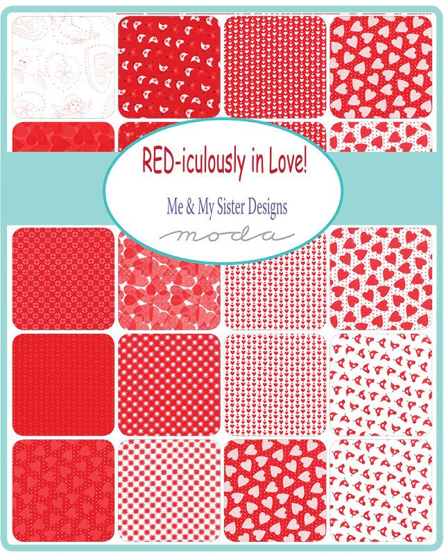 REDiculously In Love Mini Charm Pack from REDiculously Red Collection at Cherry Creek Fabric