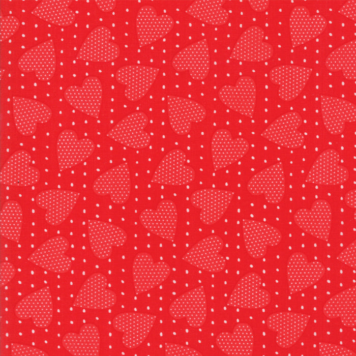 "Red on Red Heart Felt Fabric END OF BOLT 3 yds + 8"" from REDiculously Red Collection at Cherry Creek Fabric"