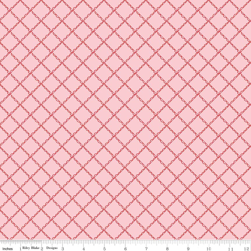 Pink Ruffle Plaid Fabric from Simple Goodness Collection at Cherry Creek Fabric