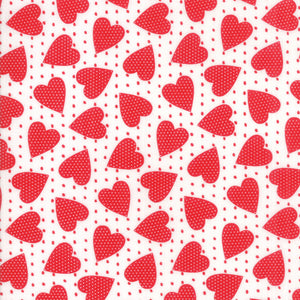 "White Heart Felt Fabric END OF BOLT 2 yds + 13"" from REDiculously Red Collection at Cherry Creek Fabric"