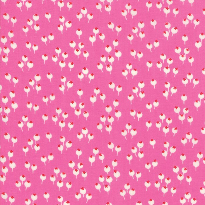 Pink Berries Fabric from Lazy Days Collection at Cherry Creek Fabric