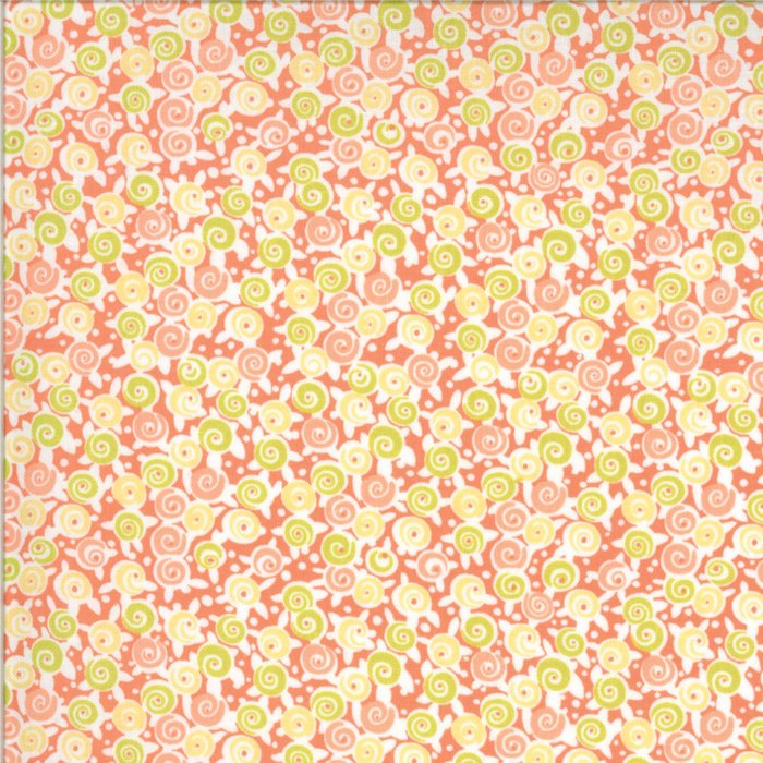 Pink Floral Lollipops Fabric