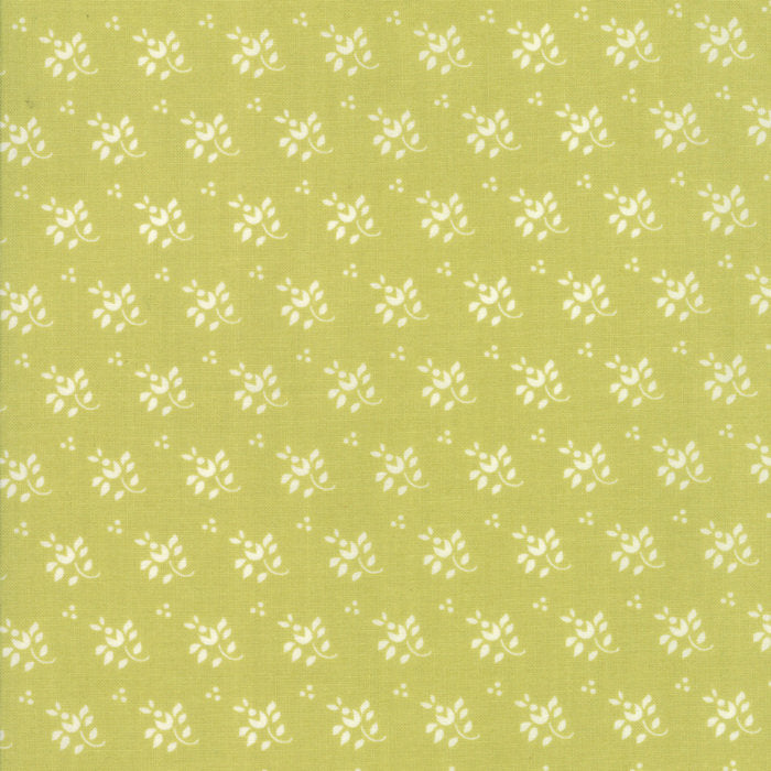 Green Feedsack Fabric