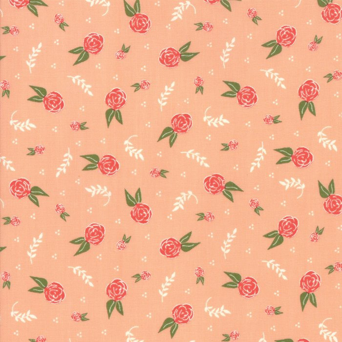 Peach Floral Dream Fabric from Clover Hollow Collection at Cherry Creek Fabric