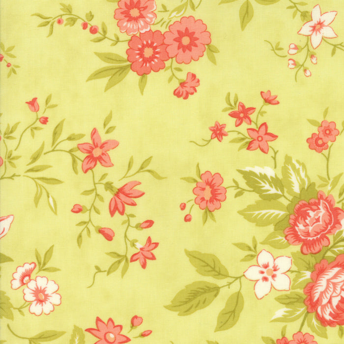 Light Green Floral Meadow Fabric