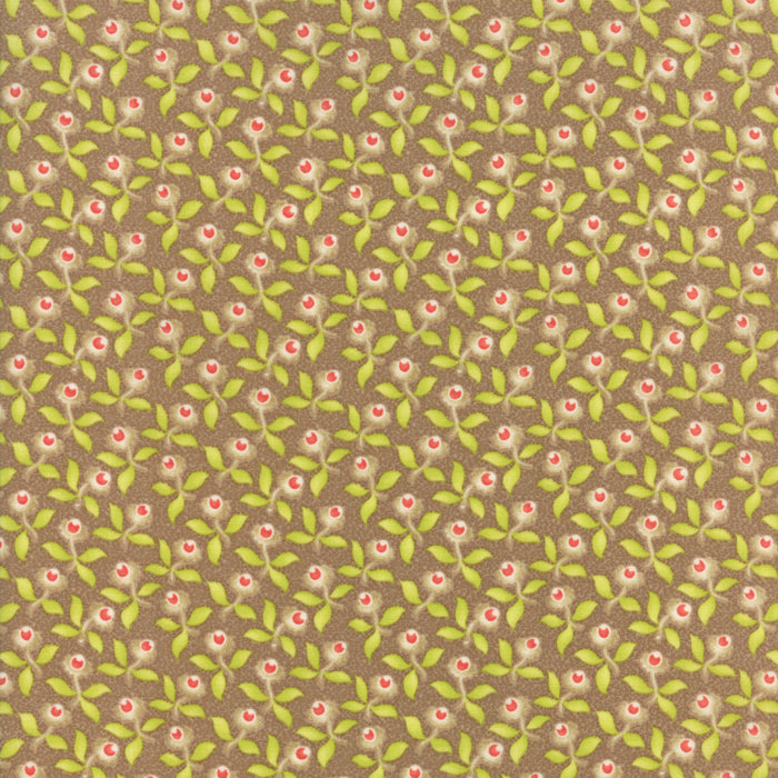 Tan Blossoms Fabric from Hazel & Plum Collection at Cherry Creek Fabric