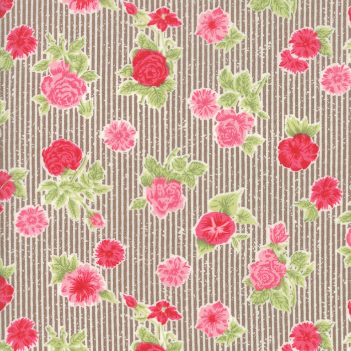 Brown Cottage Floral FabricEND OF BOLT 2 yards from Cottontail Cottage Collection at Cherry Creek Fabric