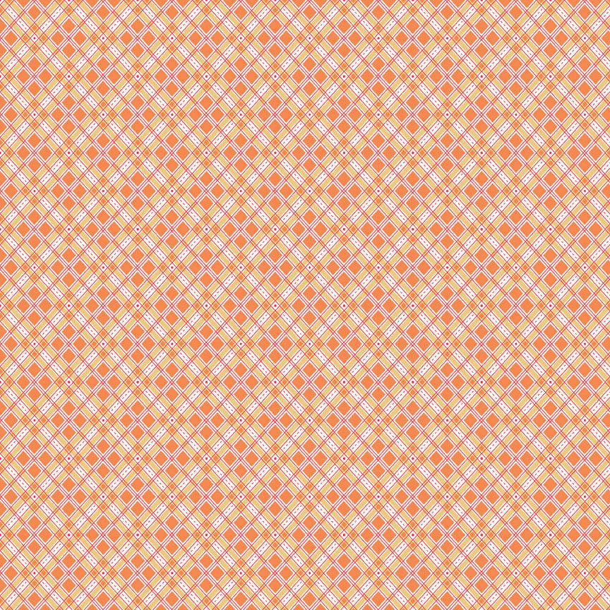 Orange Plaid Fabric
