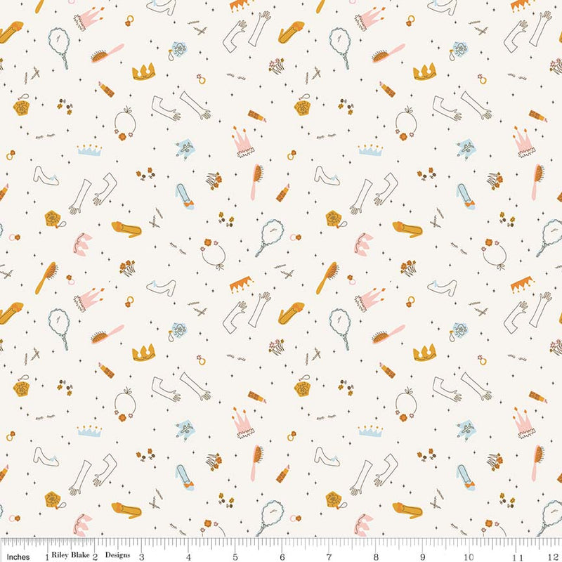 Cream Dress Up Fabric from Guinevere Collection at Cherry Creek Fabric