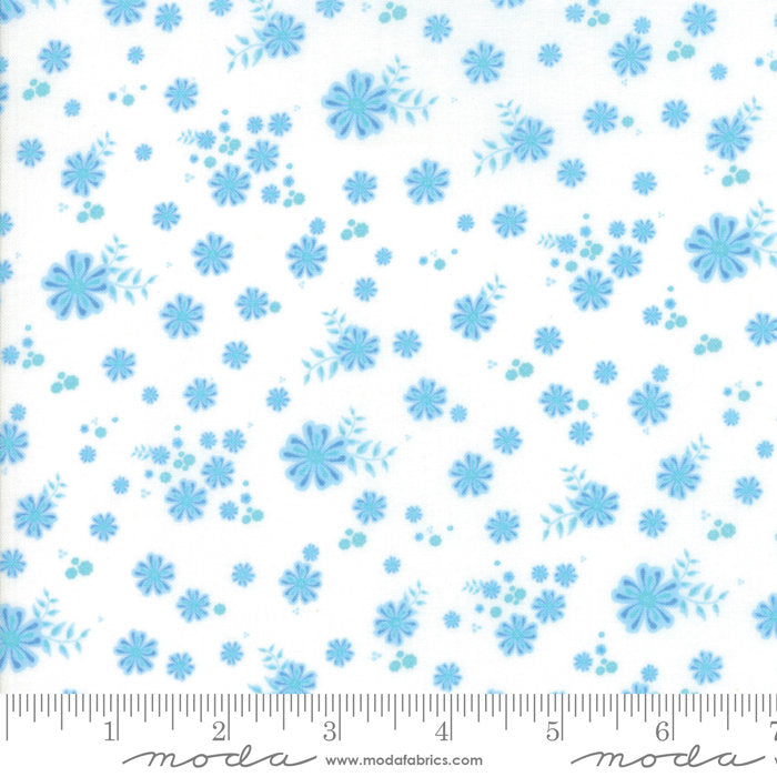 White Tiny Floral Fabric from Coledale Collection at Cherry Creek Fabric