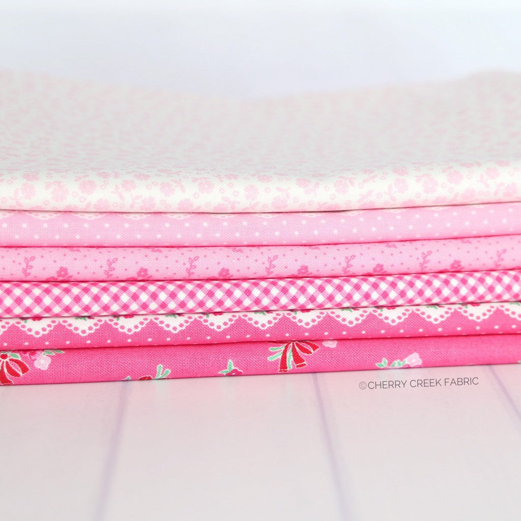 Guest Room Pink One Yard Bundle - 6 pieces