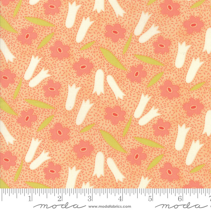 Peach Floral Buttercup Fabric from Ella & Ollie Collection at Cherry Creek Fabric
