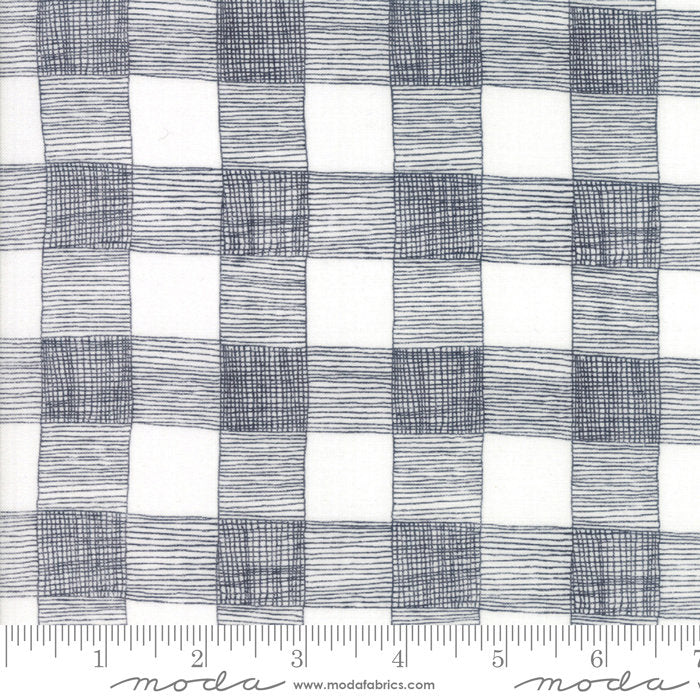 Grey Rustic Gingham Fabric from Farm Fresh Collection at Cherry Creek Fabric