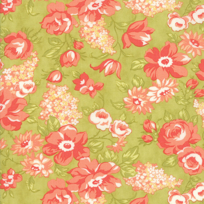 Green Blooms Fabric