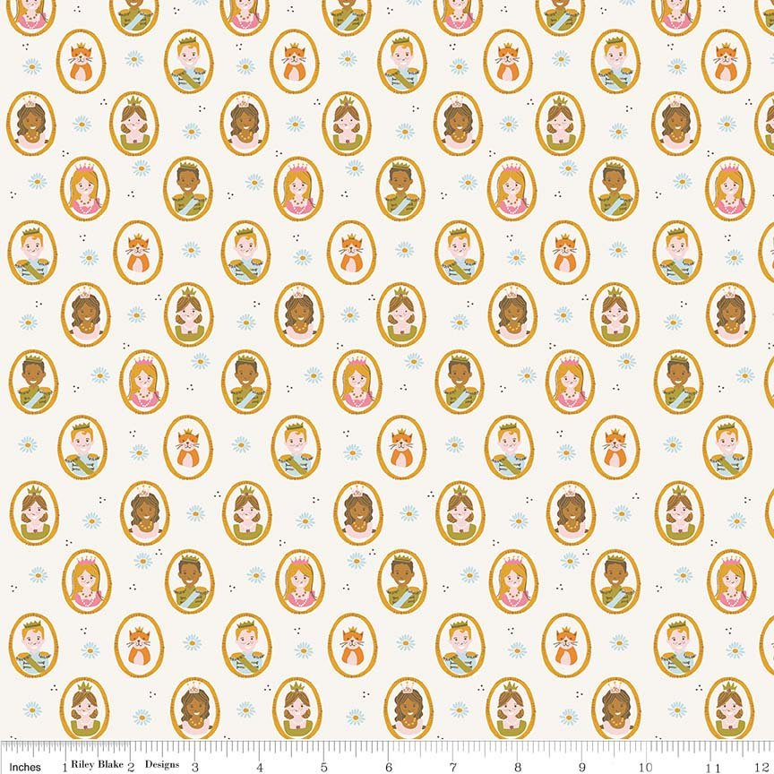 Cream People Fabric from Guinevere Collection at Cherry Creek Fabric