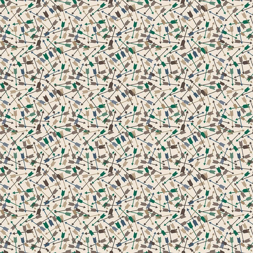 Cream Arrows Fabric from High Adventure 2 Collection at Cherry Creek Fabric